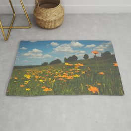 Dreaming in a Summer Field Rug