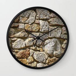 Old Mill Rock Wall Texture Wall Clock