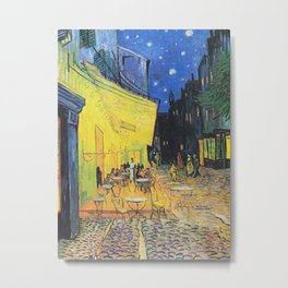 Café Terrace at Night by Vincent van Gogh Metal Print