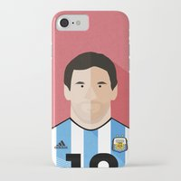 messi iPhone & iPod Cases featuring Messi by Mohammed Albassami