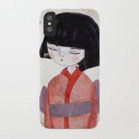 sakura iPhone & iPod Cases featuring Sakura by munieca