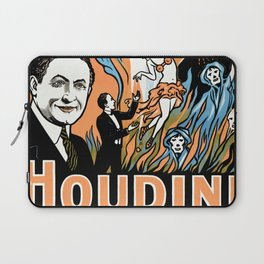 Harry Houdini, do spirits return? Laptop Sleeve