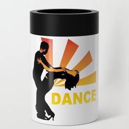 dancing couple silhouette - brazilian zouk Can Cooler