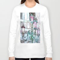 lights Long Sleeve T-shirts featuring lights by Oksana Ivanenko