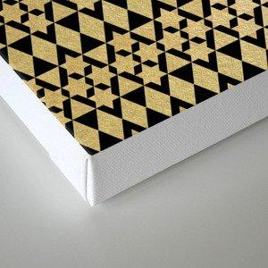 Black and Gold Geometric Pattern 4 Canvas Print