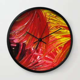 FIREWORKS IN RED - Stunning Bright Bold Autumn Colors Leaves Fall Festival 2012 Firecrackers Lights Wall Clock