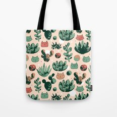 Cats and cacti Tote Bag