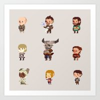 dragon age inquisition Art Prints featuring Dragon Age Inquisition: Companions by pyrogoth