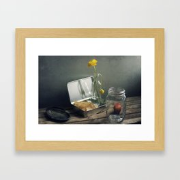 Still life with faded flowers Framed Art Print