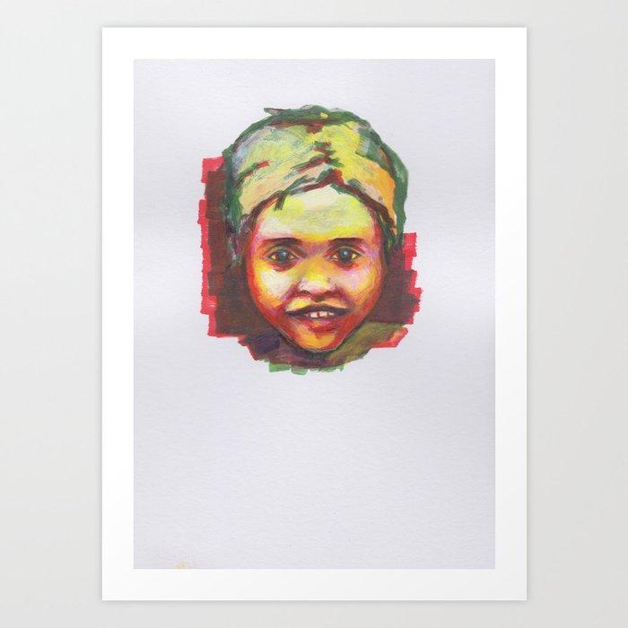 Petites têtes 4 Art Print