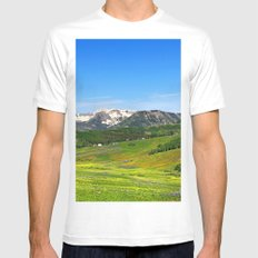 Crested Butte MEDIUM White Mens Fitted Tee