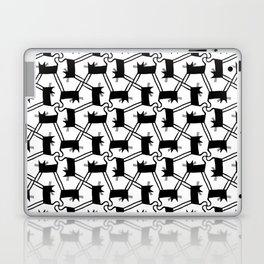 Black Cat Pattern Laptop & iPad Skin