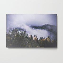 Vanishing Fog Metal Print