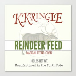 Christmas Reindeer Feed sack Canvas Print