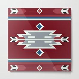 American Native Pattern No. 79 Metal Print