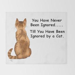 Cat Ignoring You Throw Blanket