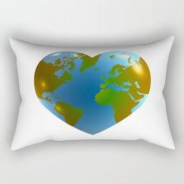 Globe in the shape of heart Rectangular Pillow