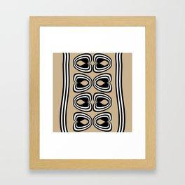 Psi Almond Buff Framed Art Print
