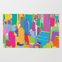 cityscape Area & Throw Rugs featuring Cityscape by Glen Gould