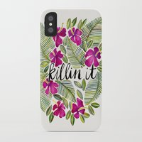 tropical iPhone & iPod Cases featuring Killin' It – Tropical Pink by Cat Coquillette