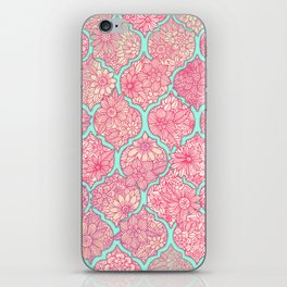 Moroccan Floral Lattice Arrangement in Pinks iPhone Skin