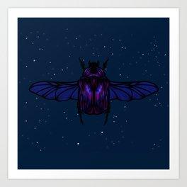 Midnight Beetle Art Print