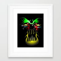tatoo Framed Art Prints featuring Tatoo-2 by MysticMonk