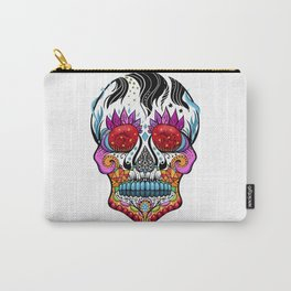 Stained Glass Sugar Skull Carry-All Pouch