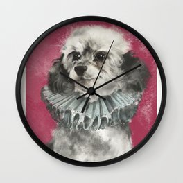 Poodle-licious Wall Clock