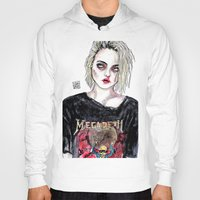 sky ferreira Hoodies featuring SKY FERREIRA NO,17 by Lucas David