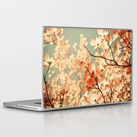 bianca green Laptop & iPad Skins featuring Pink by Olivia Joy StClaire