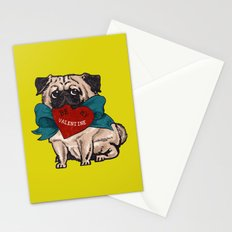 Be My Valentine Pug Stationery Cards