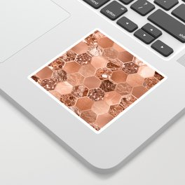 Rose gold hexaglam blonde Sticker
