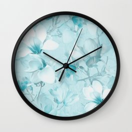 BLUE MAGNOLIAS Wall Clock