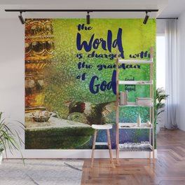 Jewel Hummingbird ~ World God Quote ~ Ginkelmier Inspired Wall Mural