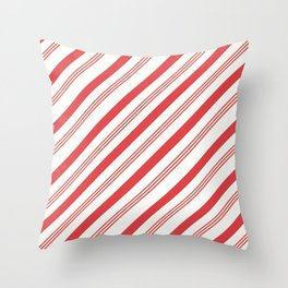 Candy Cane Peppermint Pattern Design  Throw Pillow