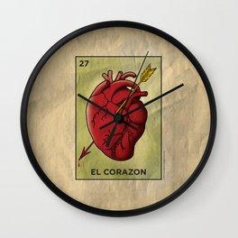 El Corazon Wall Clock