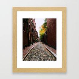 Acorn Street, Boston Framed Art Print