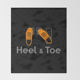 Heel & Toe Throw Blanket