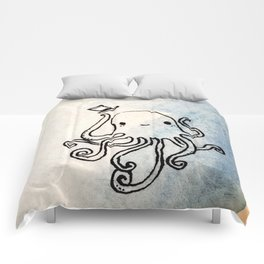 Octopus top hat Comforters