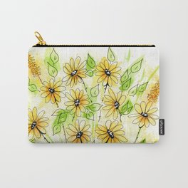 Yellow Daisies Spring Floral Design Carry-All Pouch