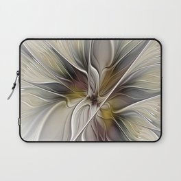 Floral Abstract, Fractal Art Laptop Sleeve