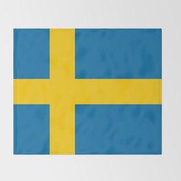 National flag of Sweden Throw Blanket
