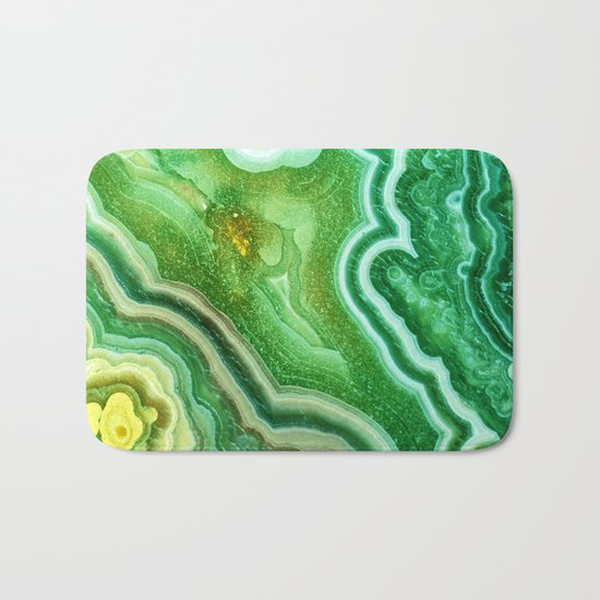 Green marble Bath Mat