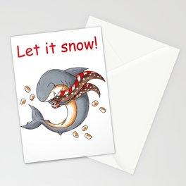 Hot Cocoa Shark Stationery Cards