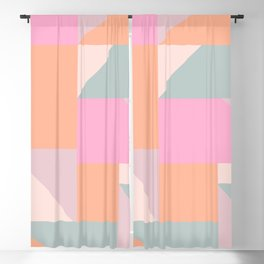 Sweet Candy Pastel Shapes Blackout Curtain