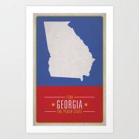 georgia Art Prints featuring GEORGIA by Matthew Justin Rupp