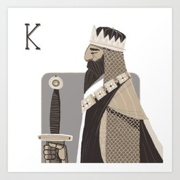 King A. Art Print