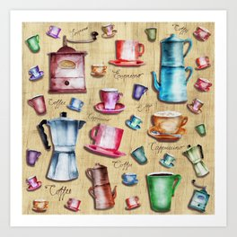 Coffee time! 2.0 Art Print