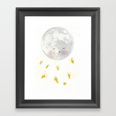 Moon and astronauts! Framed Art Print